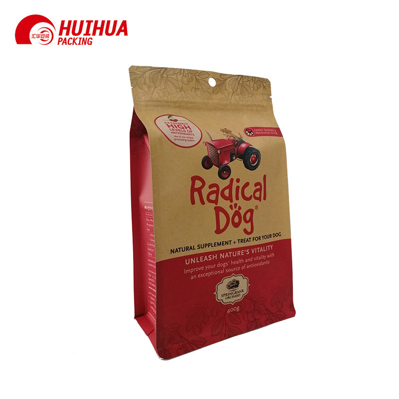 Kraft Paper Bag With Window And Re-Sealable Zipper