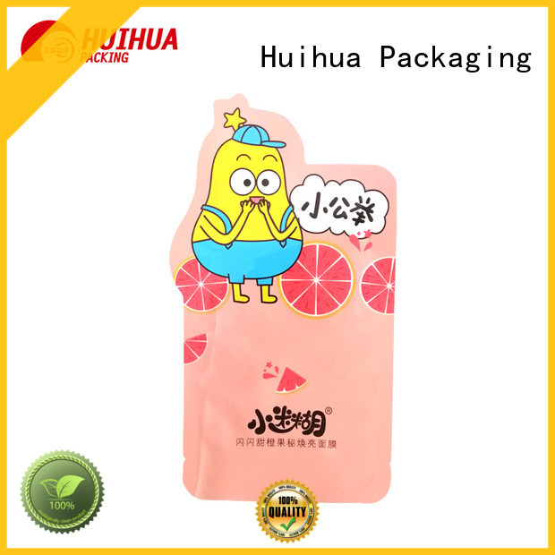 Huihua resealable custom printed pouches manufacturer for liquid