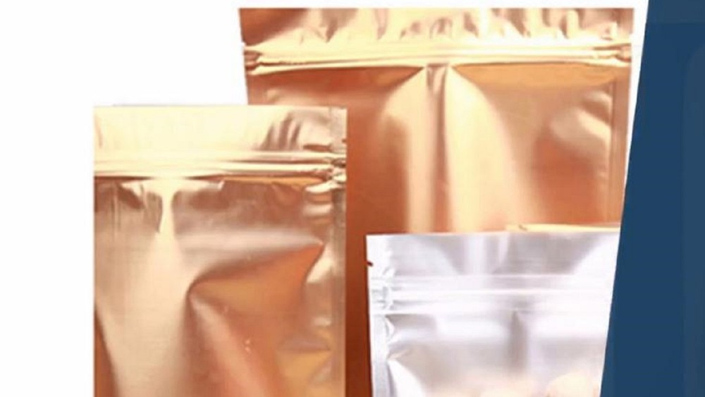 Reclosable Mylar Foil Ziplock Stand Up Food Packaging Pouches With Clear Front