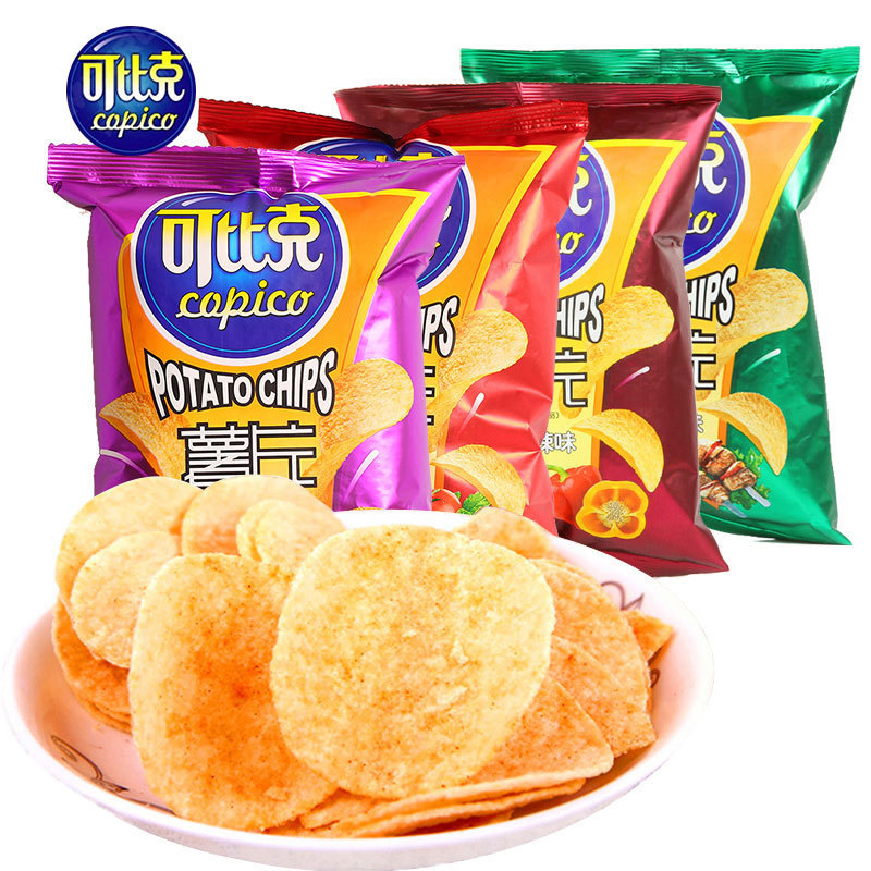 product-Huihua-Customized lamination back seal potato chips packaging bag for snack food pouch-img