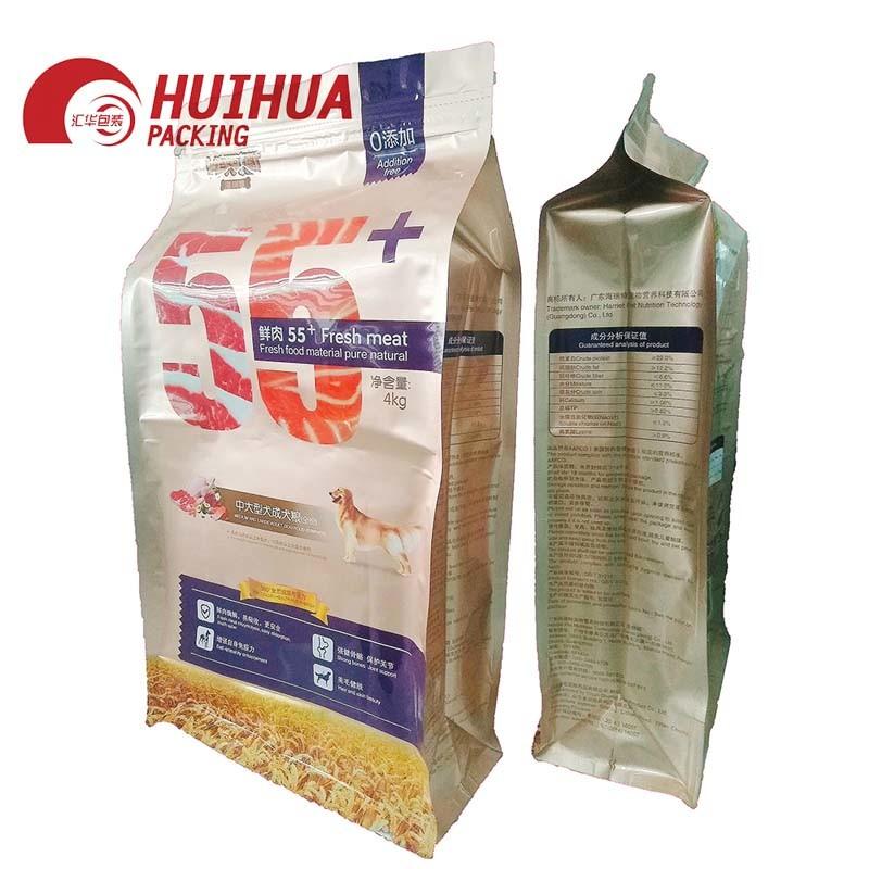 Flat bottom bag for pet food