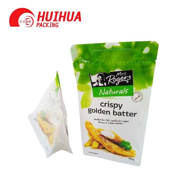 Flat bottom bag for salt