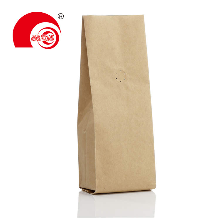 Generic Kraft Paper Gusset Bag With Valve For Coffee Packaging