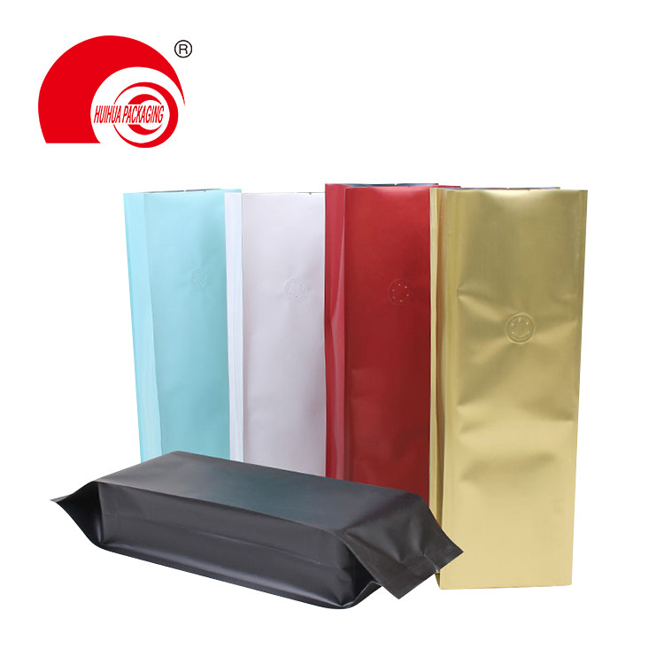 454g 1 lb side gusset coffee packaging bag with valve in various colors options