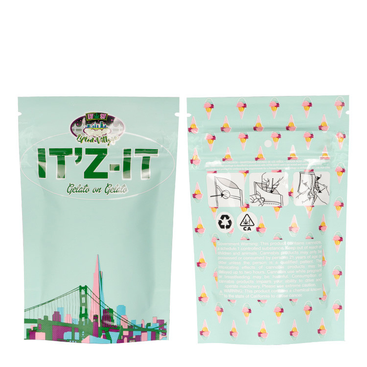 product-Plastic child resistant zip lock aluminum foil mylar small bag with custom printing stand up-1