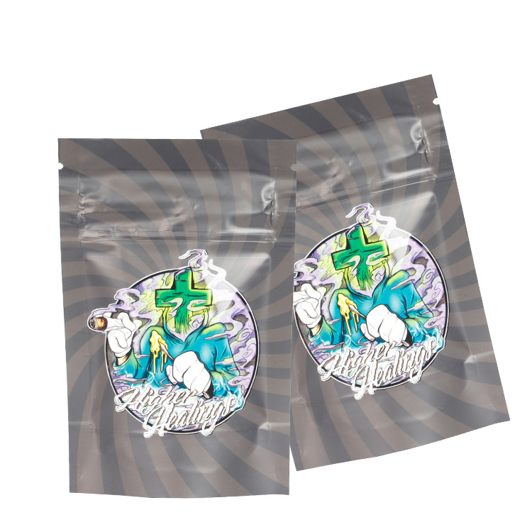 Custom Printed Aluminum Foil Child Resistant Mylar Bags with Child Proof Zipper