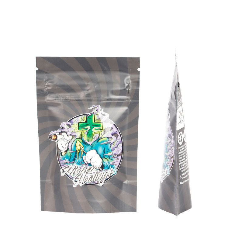 product-Huihua-Custom Printed Aluminum Foil Child Resistant Mylar Bags with Child Proof Zipper-img