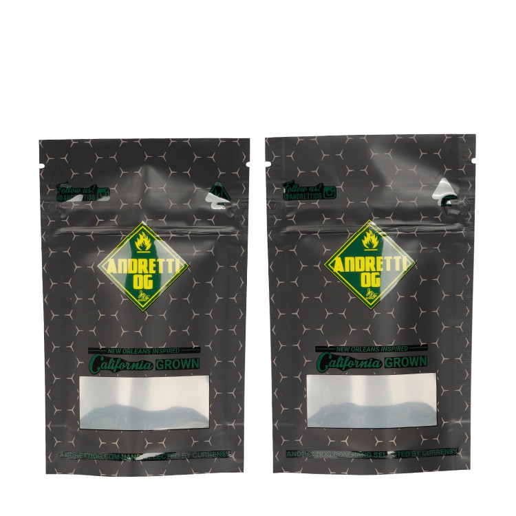 Custom Printed Aluminum Foil Child Resistant Resealable Mylar Bags Pouch with Child Proof Zipper