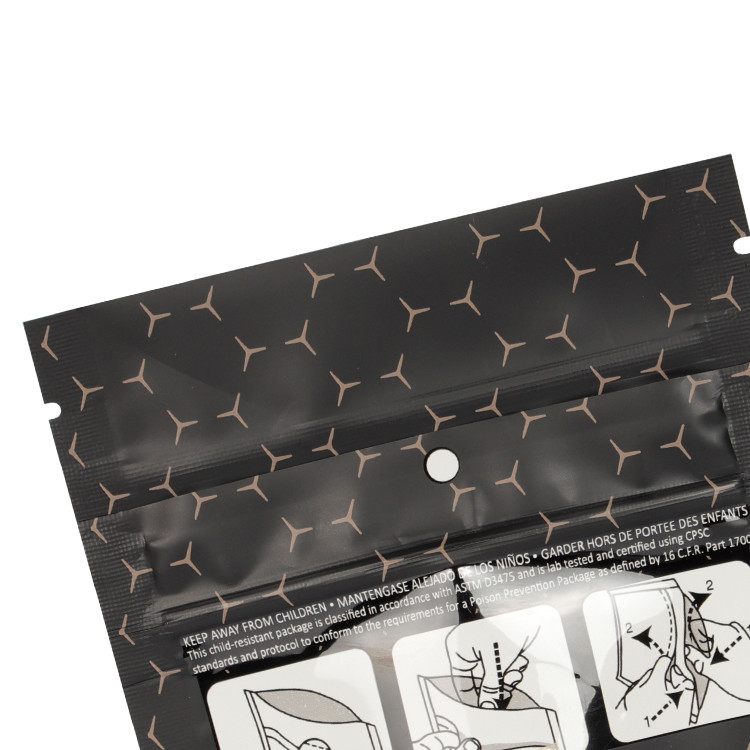 product-Custom Printed Aluminum Foil Child Resistant Resealable Mylar Bags Pouch with Child Proof Zi-1