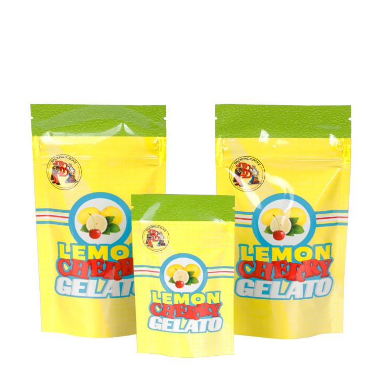 Custom Design Zipper Child Proof Mylar Bag Pouch Child Resistant Exit Bag with Tear Notch