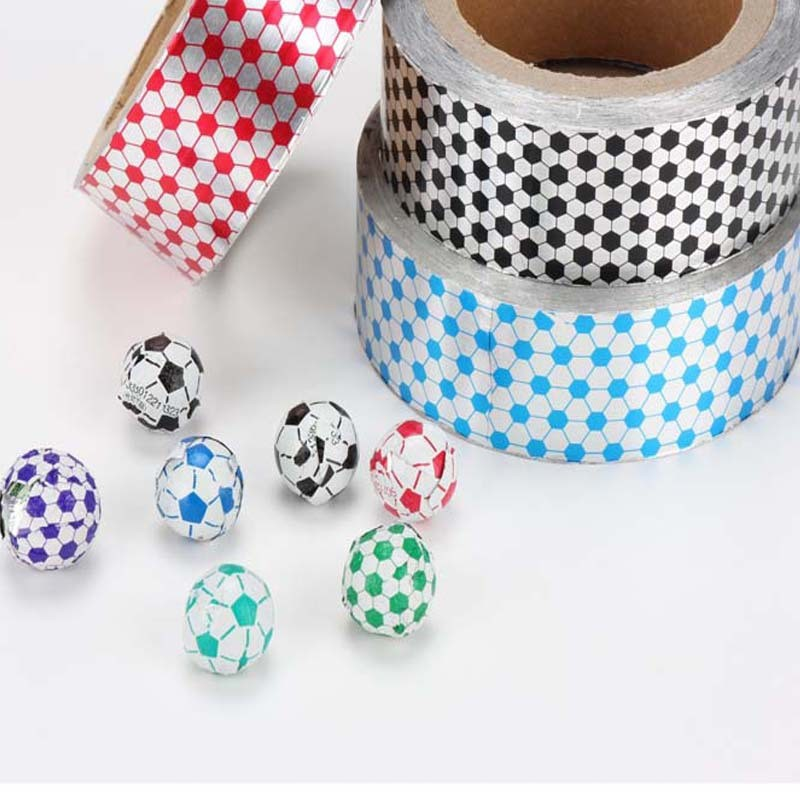 Personalized custom football pattern food aluminum foil chocolate wrapping paper custom pattern tin foil