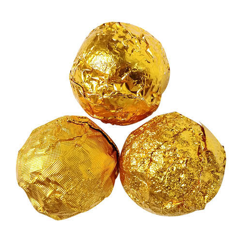 Smooth Surface Orange Peel Grain Fine Plaid Golden Chocolate Pure Aluminum Foil Wrapping Paper