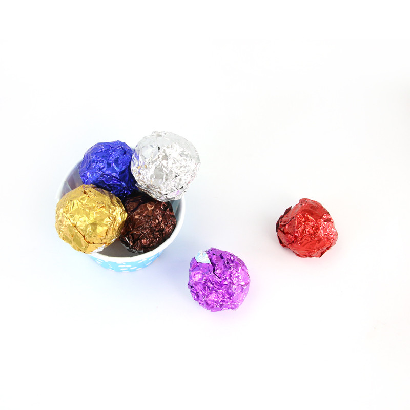 product-Huihua-Glossy Color Golden Chocolate Aluminum Foil Sesame Pill Tin Foil Wrapped Dragon Ball